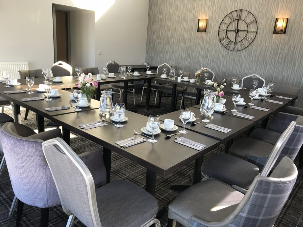 The Knowes Hotel and Restaurant Aberdeenshire Conservatory Meeting Set Up