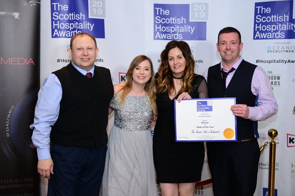 The Knowes Hotel Staff Celebrate Award Win