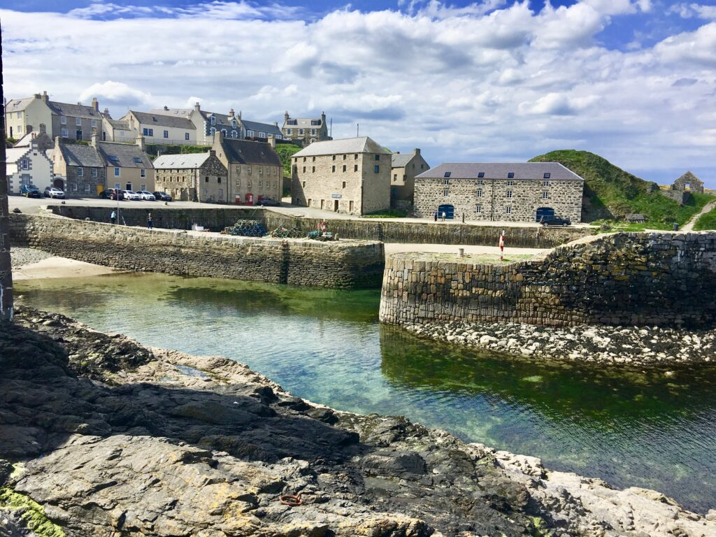 The Old Harbour in Portsoy on the Moray Firth Coast. Credit - S Gale